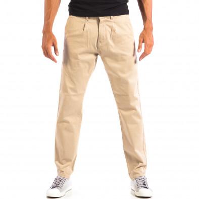 Ανδρικό μπεζ παντελόνι RESERVED lp060818-103 2