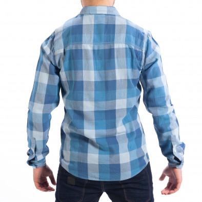 Ανδρικό γαλάζιο πουκάμισο CROPP lp070818-133 3