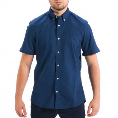 Ανδρικό γαλάζιο κοντομάνικο πουκάμισο RESERVED lp070818-146 2