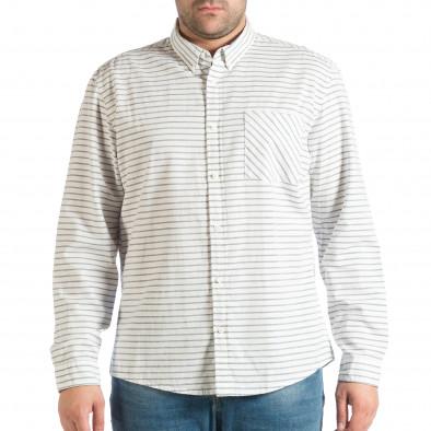Ανδρικό λευκό πουκάμισο lp290918-184 2