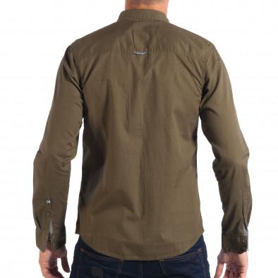 Ανδρικό πράσινο πουκάμισο CROPP lp070818-105 3