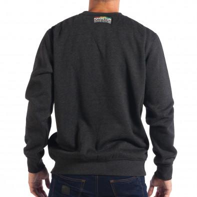 Ανδρική γκρι μπλούζα με πολύχρωμη επιγραφή CROPP lp080818-22 3