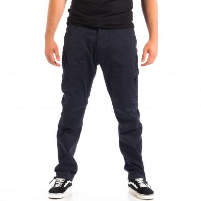 Ανδρικό μπλε παντελόνι με λάστιχο στις άκρες CROPP lp060818-125 2