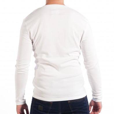 Ανδρική ελαστική λευκή μπλούζα House lp070818-31 3