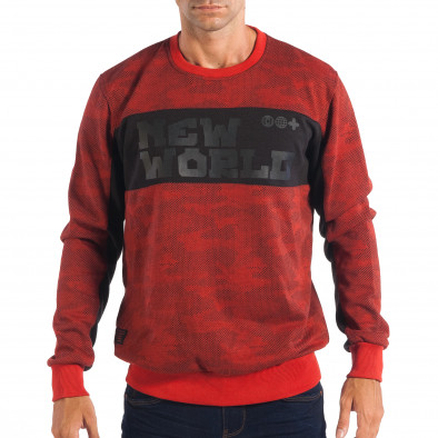 d4b8c93aced9 Ανδρική κόκκινη μπλούζα CROPP lp080818-61 - Fashionmix.gr