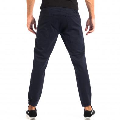 Ανδρικό μπλε παντελόνι Jogger με μεγάλες τσέπεςCROPP lp060818-104 3