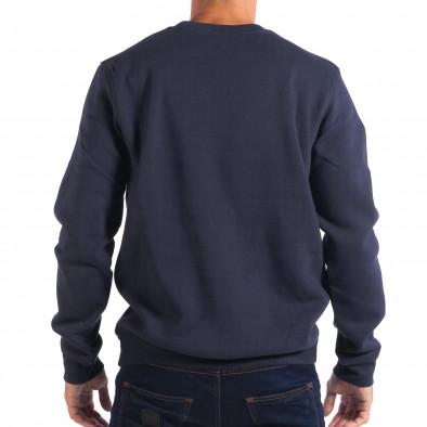 Ανδρική γαλάζια μπλούζα CROPP lp080818-78 3