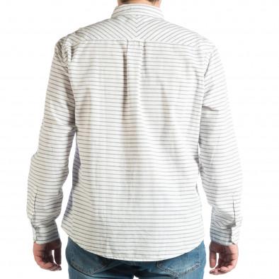 Ανδρικό λευκό πουκάμισο lp290918-184 3