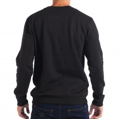 Ανδρική μαύρη μπλούζα με Hip-Hop μοτίβο CROPP lp080818-46 3