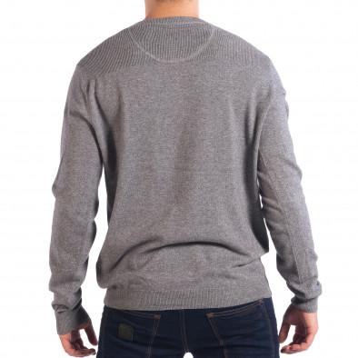 Ανδρικό γκρι πουλόβερ με κουμπιά RESERVED lp070818-75 3
