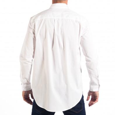 Ανδρικό λευκό πουκάμισο Regular fit με πριντ lp070818-121 3