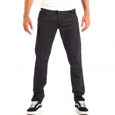 Ανδρικό μαύρο Slim παντελόνι RESERVED lp060818-111 2