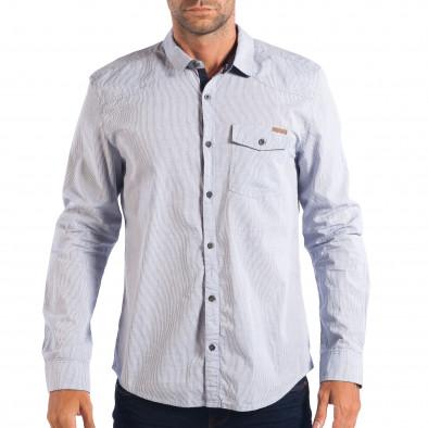 Ανδρικό λευκό πουκάμισο CROPP lp070818-131 2
