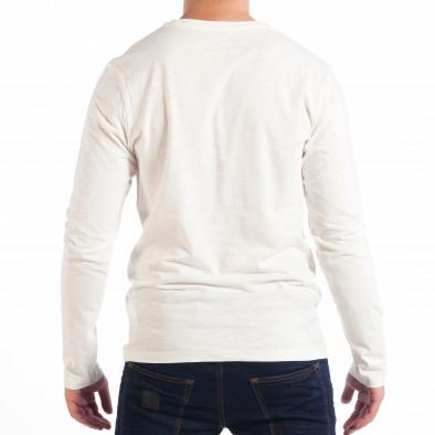 Ανδρική λευκή μπλούζα με τσέπη RESERVED lp070818-48 3