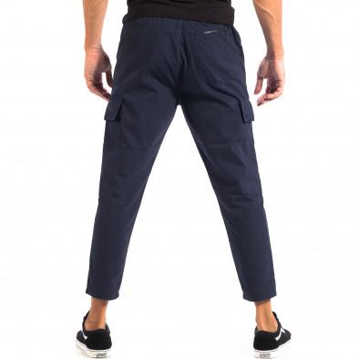 Ανδρικό μπλε Cropped Cargo παντελόνι RESERVED lp060818-118 3