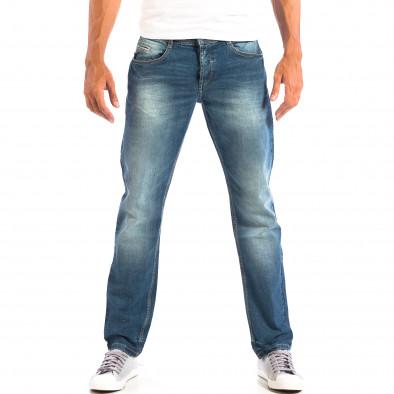 Ανδρικό μπλε τζιν Regular fit με ξεθωριασμένο εφέ RESERVED lp060818-69 2