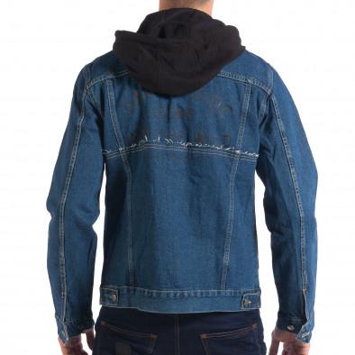 Ανδρικό γαλάζιο τζιν μπουφάν με κουκούλα RESERVED lp070818-86 3