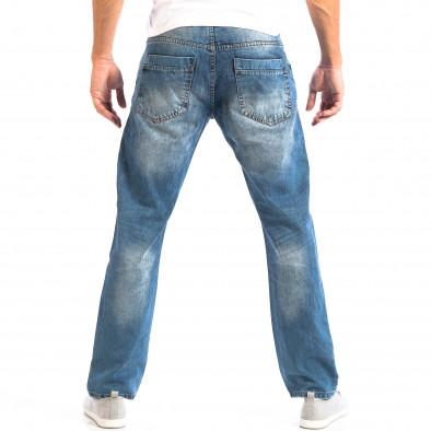 Ανδρικό γαλάζιο τζιν ρέτρο στυλ House lp060818-29 3