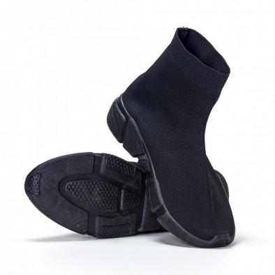 Ανδρικά μαύρα αθλητικά παπούτσια slip-on All-black it240418-28 3