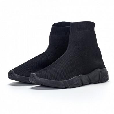 Ανδρικά μαύρα αθλητικά παπούτσια slip-on All-black it240418-28 4