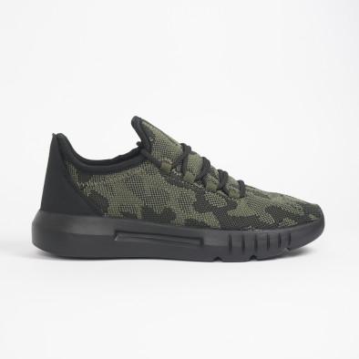 Ανδρικά πράσινα καμουφλαζ αθλητικά παπούτσια ελαφρύ μοντέλο it221119-1 3