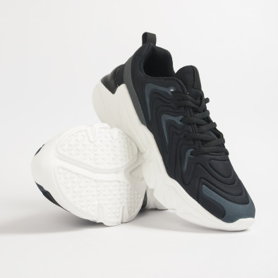 Ανδρικά μαύρα αθλητικά παπούτσια  it201219-4 5