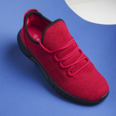 Ανδρικά κόκκινα μελάνζ αθλητικά παπούτσια ελαφρύ μοντέλο it041119-1 4
