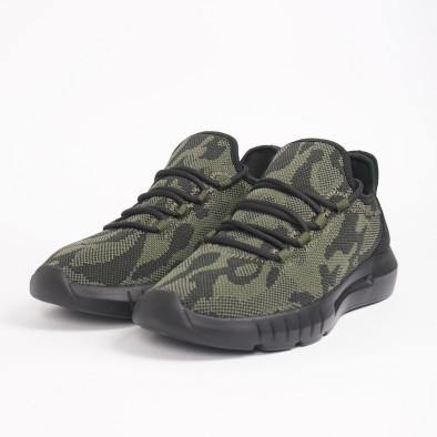 Ανδρικά πράσινα καμουφλαζ αθλητικά παπούτσια ελαφρύ μοντέλο it221119-1 5