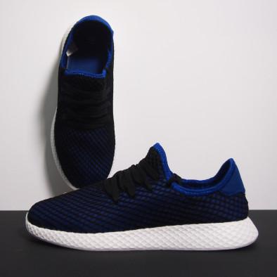 Ανδρικά μπλε αθλητικά παπούτσια Mesh ελαφρύ μοντέλο it230519-2 4