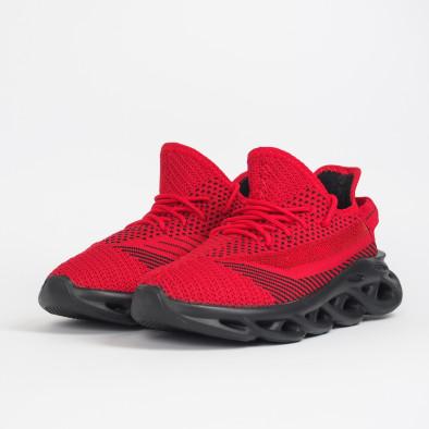 Ανδρικά κόκκινα μελάνζ αθλητικά παπούτσια Rogue it201219-1 4