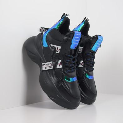 Γυναικεία ψηλά αθλητικά παπούτσια με νέον λεπτομέρειες it260919-64 4