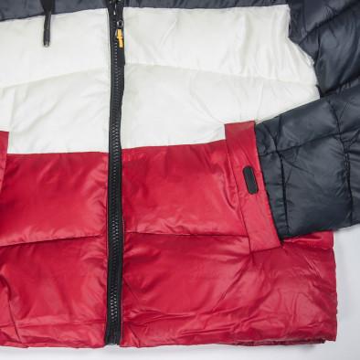 Ανδρικό χειμωνιάτικο μπουφάν με ρίγες it091219-13 5