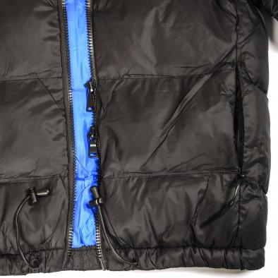 Ανδρικό μαύρο χειμωνιάτικο μπουφάν Marshall Angel it091219-11 5