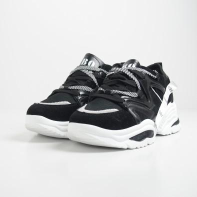 Ανδρικά Chunky μαύρα αθλητικά παπούτσια  it130819-29 4