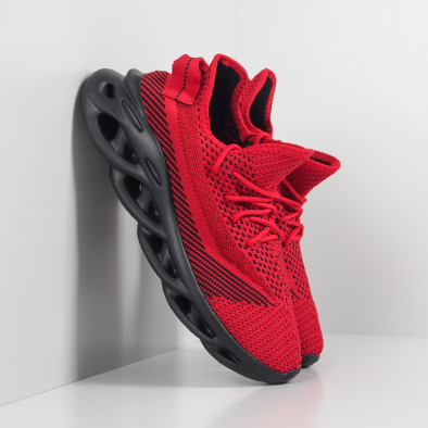 Ανδρικά κόκκινα μελάνζ αθλητικά παπούτσια Rogue it201219-1 2