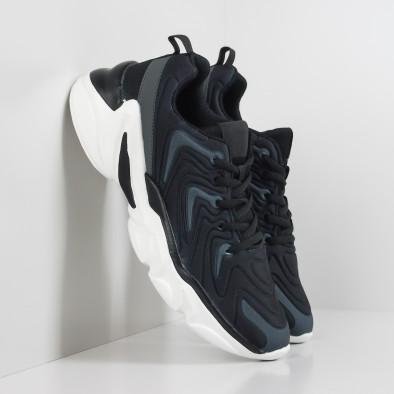 Ανδρικά μαύρα αθλητικά παπούτσια  it201219-4 2