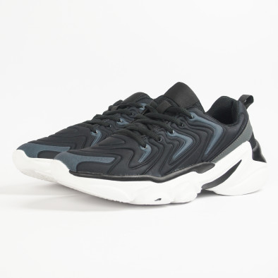 Ανδρικά μαύρα αθλητικά παπούτσια  it201219-4 4