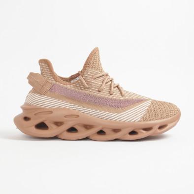 Ανδρικά μπεζ μελάνζ αθλητικά παπούτσια Rogue it201219-3 3