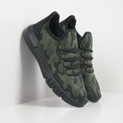 Ανδρικά πράσινα καμουφλαζ αθλητικά παπούτσια ελαφρύ μοντέλο it221119-1 2