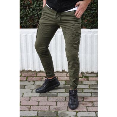 Ανδρικό πράσινο παντελόνι cargo Blackzi tr170320-3 5