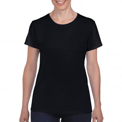 Γυναικεία μαύρη κοντομάνικη μπλούζα Basic tmn060120-3 2