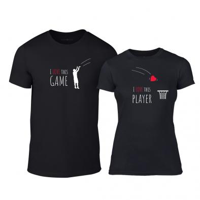Μπλουζες για ζευγάρια Basketball μαύρο TMN-CP-208 2