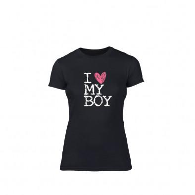 Γυναικεία Μπλούζα Love My Girl Love My Boy μαύρο L TMNLPF027L 2