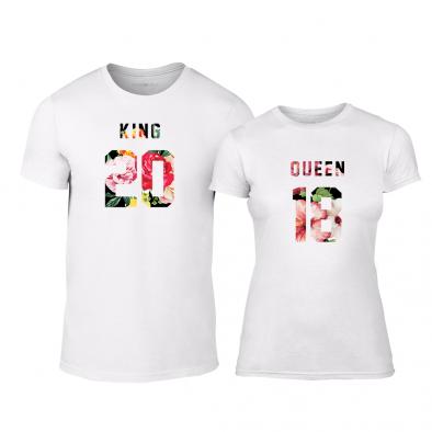 Μπλουζες για ζευγάρια King & Queen 2018 λευκό TMN-CP-217 2
