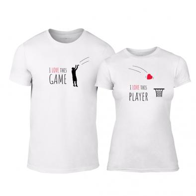 Μπλουζες για ζευγάρια Basketball λευκό TMN-CP-207 2