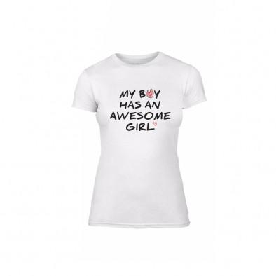 Γυναικεία Μπλούζα The Awesome Boy & Girl λευκό Χρώμα Μέγεθος M TMNLPF066M 2