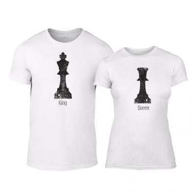 Μπλουζες για ζευγάρια Chess λευκό TMN-CP-111 2