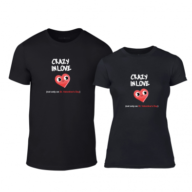 Μπλουζες για ζευγάρια Crazy In Love μαύρο TMN-CP-224 2