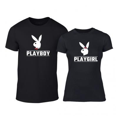 Μπλουζες για ζευγάρια Playboy μαύρο TMN-CP-251 2