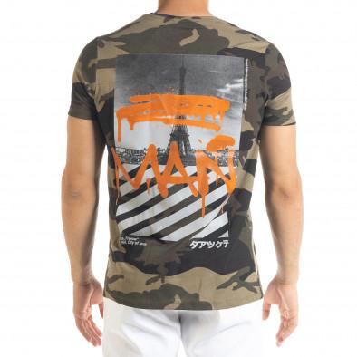 Ανδρική καμουφλαζ κοντομάνικη μπλούζα Lagos tr080520-35 3